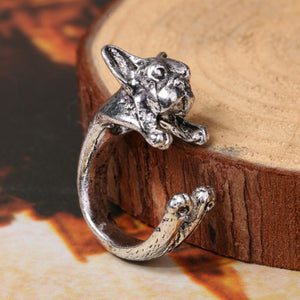 Adjustable Bulldog Ring - DogWoofers, DogWoofer, Dog Woofer, Dog Woofers, Dog Jewelry