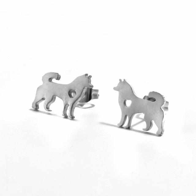 Husky Dog Earrings - DogWoofers, DogWoofer, Dog Woofer, Dog Woofers, Dog Jewelry
