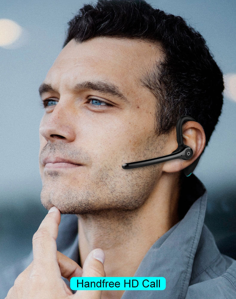 Dual-Mic Noise Cancelling Bluetooth Headset