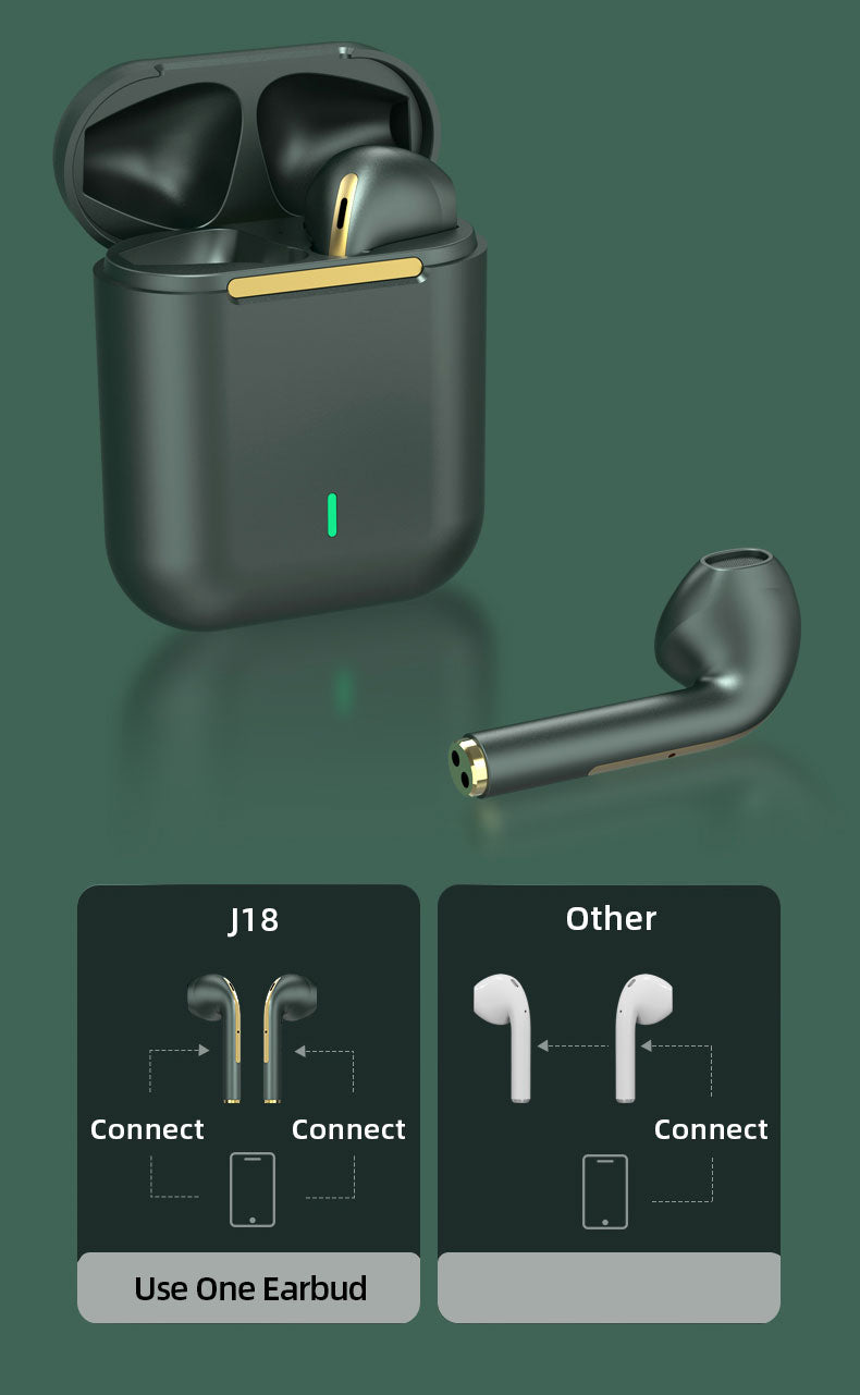 J18 Smart Touch Control Bluetooth Earbuds