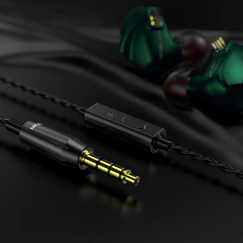 HiFi IEMs Earphones with Mic | Hybrid Banlance Armature with Dynamic Driver In Ear Monitors