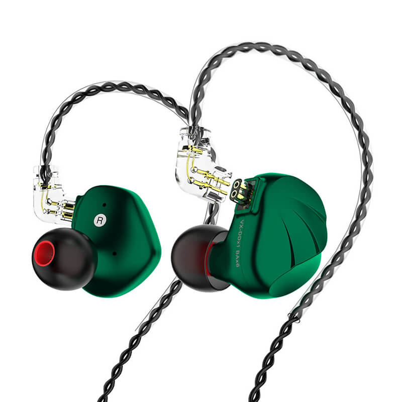 HiFi IEMs Earphones with Mic | Hybrid Banlance Armature with Dynamic Driver In Ear Monitors_Green