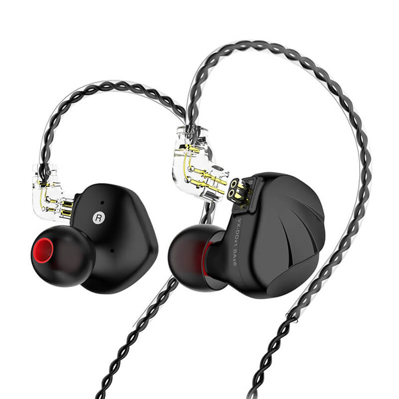 HiFi IEMs Earphones with Mic | Hybrid Banlance Armature with Dynamic Driver In Ear Monitors_Black