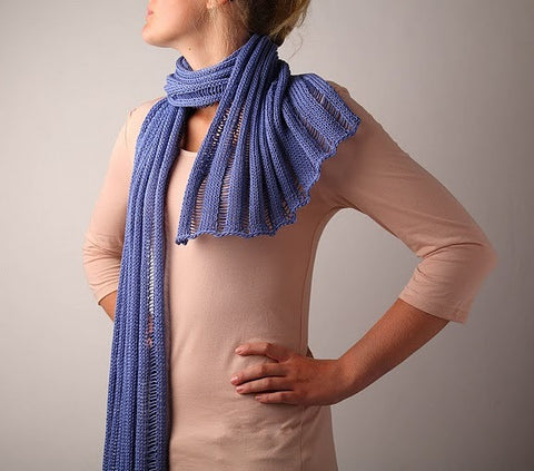 Knit Scarf Beata - Cornflower Blue