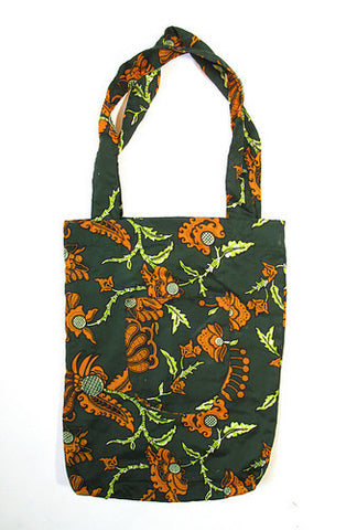 Market Tote Bag - Green & Orange