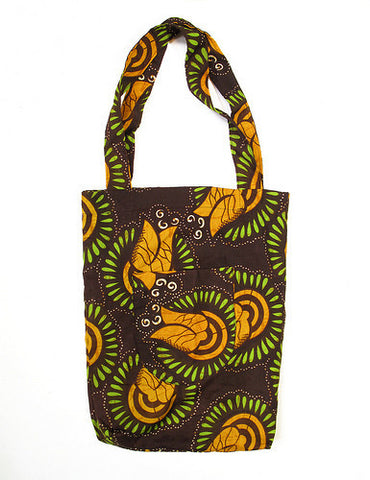 Market Tote Bag - Chocolate & Orange
