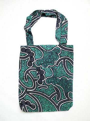 Market Tote Bag - Teal & Blue