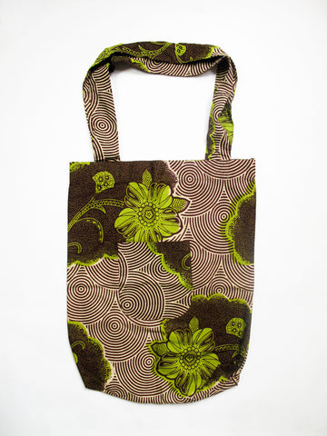 Market Tote - Lime & Chocolate
