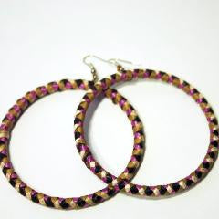 Banana Hoop Earrings - Hot Pink