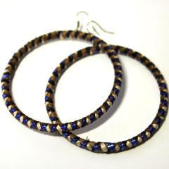 Banana Hoop Earrings - Bright Blue