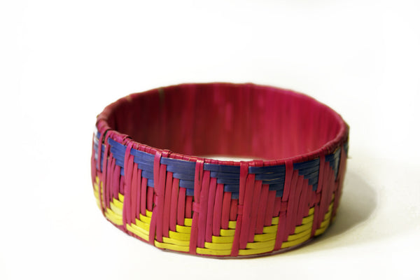Imfumzo Bangle - Pink and Yellow Triangle