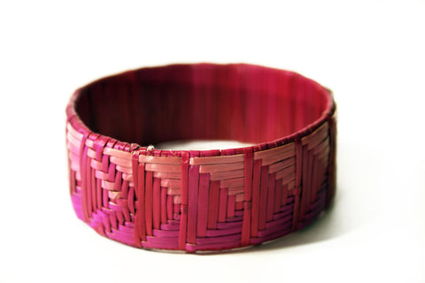 Imfumzo Bangle - Shades of Pink Triangle
