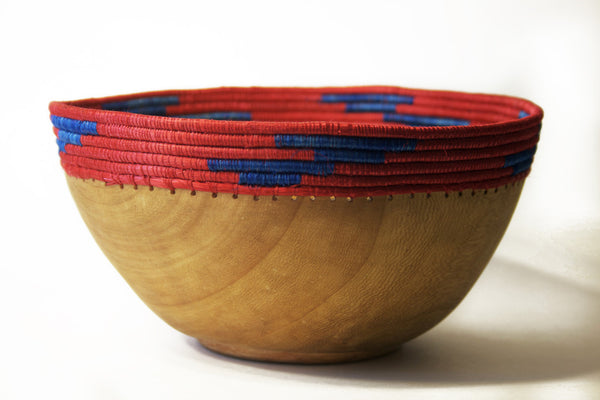 Copabu Wooden Bowl - Red