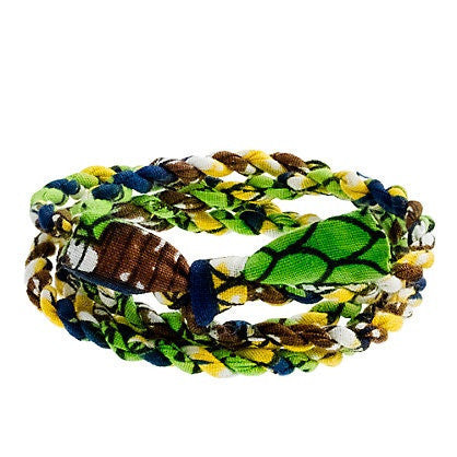 JCrew Cloth Wrap Bracelet - Green