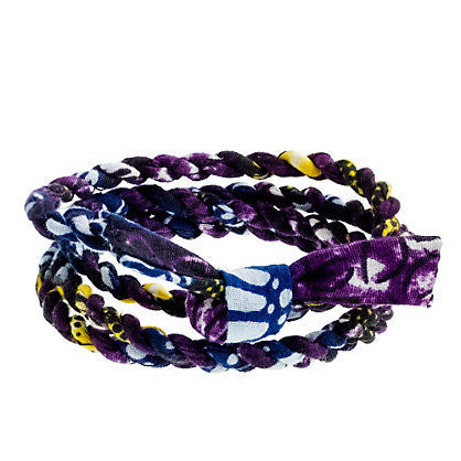JCrew Cloth Wrap Bracelet - Purple