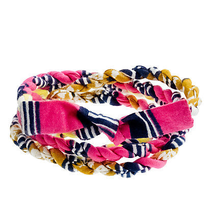 JCrew Cloth Wrap Bracelet - Pink