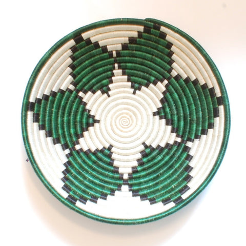 Green Leaf Plateau Basket