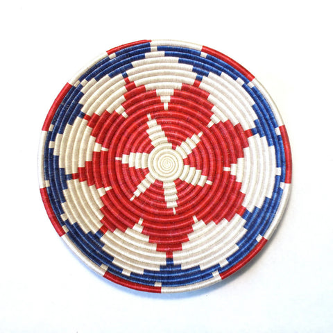 Red, White & Blue Burst Plateau Basket