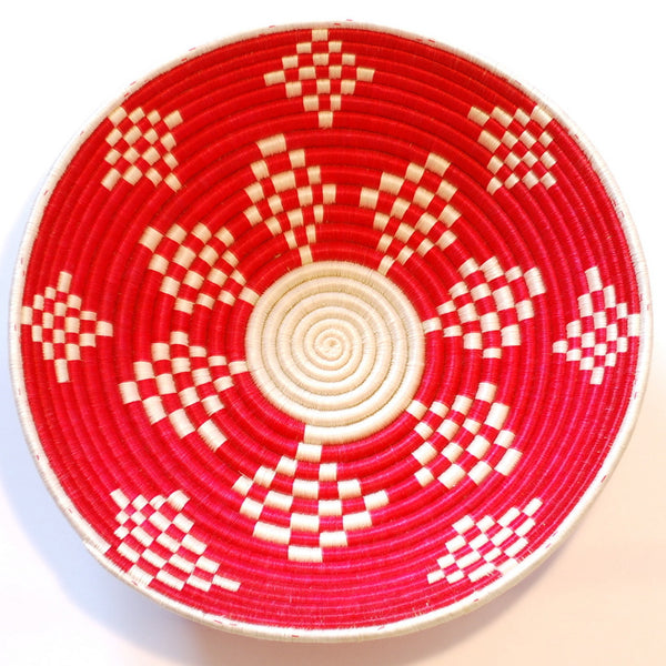 Red & White Diamond Plateau Basket