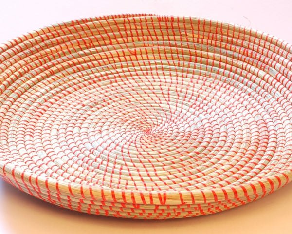 Large Woven Platter - Orange