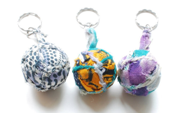 NEW! Textile Ball Key Chains (KY12)
