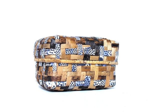 Banana and Textile Basket - Indigo Blue