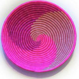 Hot Pink Swirl Plateau Basket