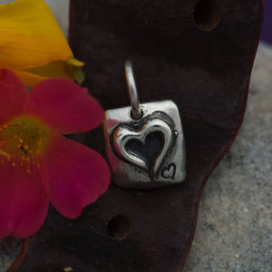 Sterling Silver Charm or Pendant -A Little Love
