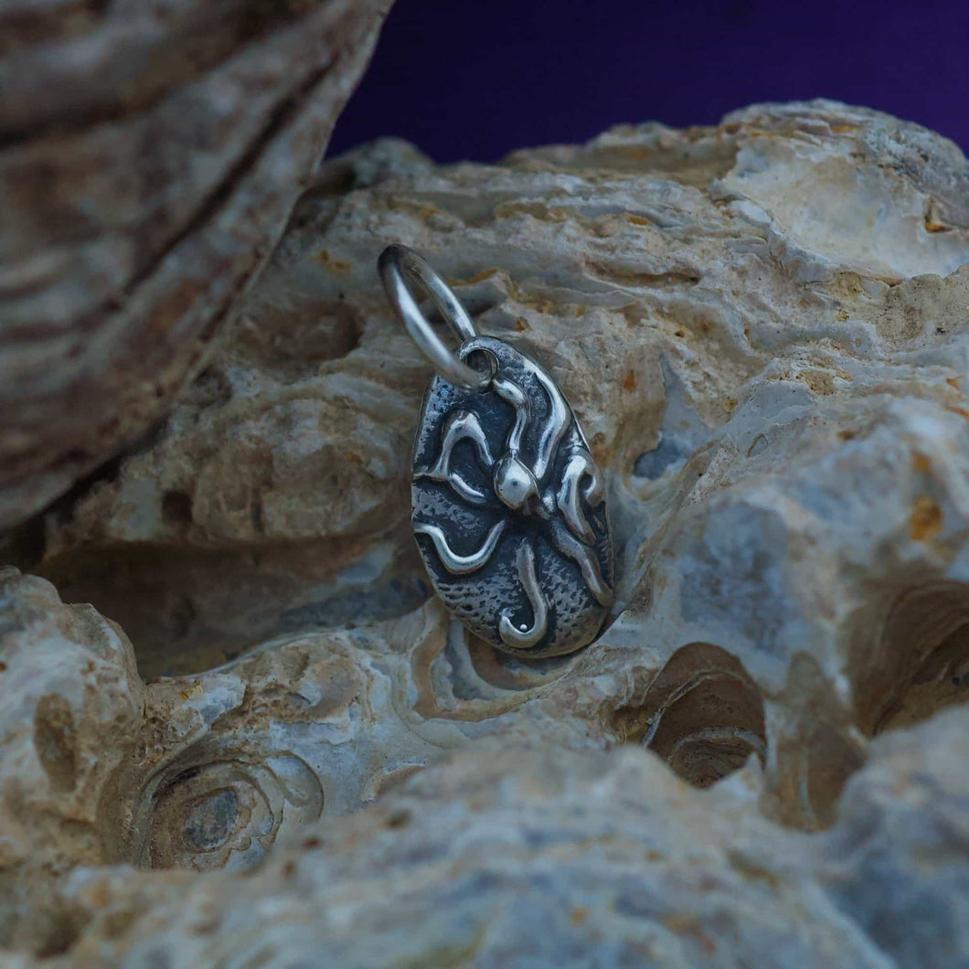 Sterling Charm or Pendant -A Little Octopus