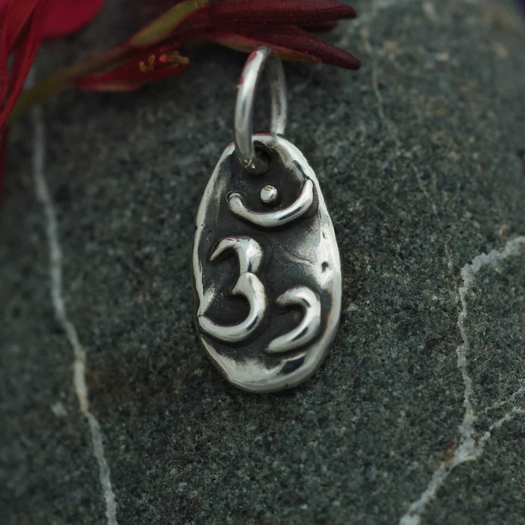 Sterling Charm or Pendant -A Little Om