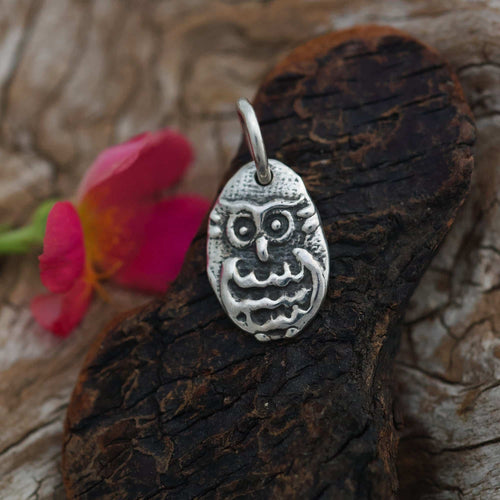 Sterling Charm or Pendant -A Little Owl
