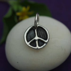 little sterling silver peace symbol charm