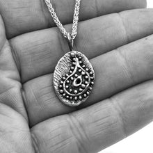 Load image into Gallery viewer, Almond shaped Mehndi Paisley Pendant