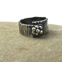 Load image into Gallery viewer, Asymmetrical Abstract Flower Sterling Silver Ring