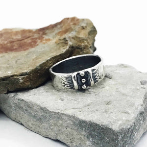 Between Two Lines Ring Band Sterling Silver