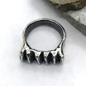 Chunky Ridges Sterling Silver Ring