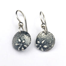 Load image into Gallery viewer, Sterling silver Textured Flower Earrings on French Hooks