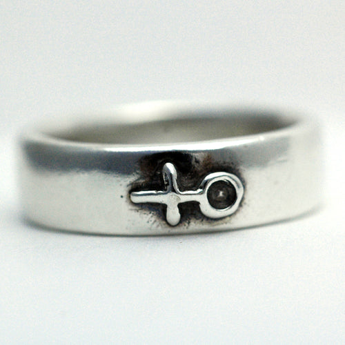 Sterling Silver I am Woman Symbol Ring