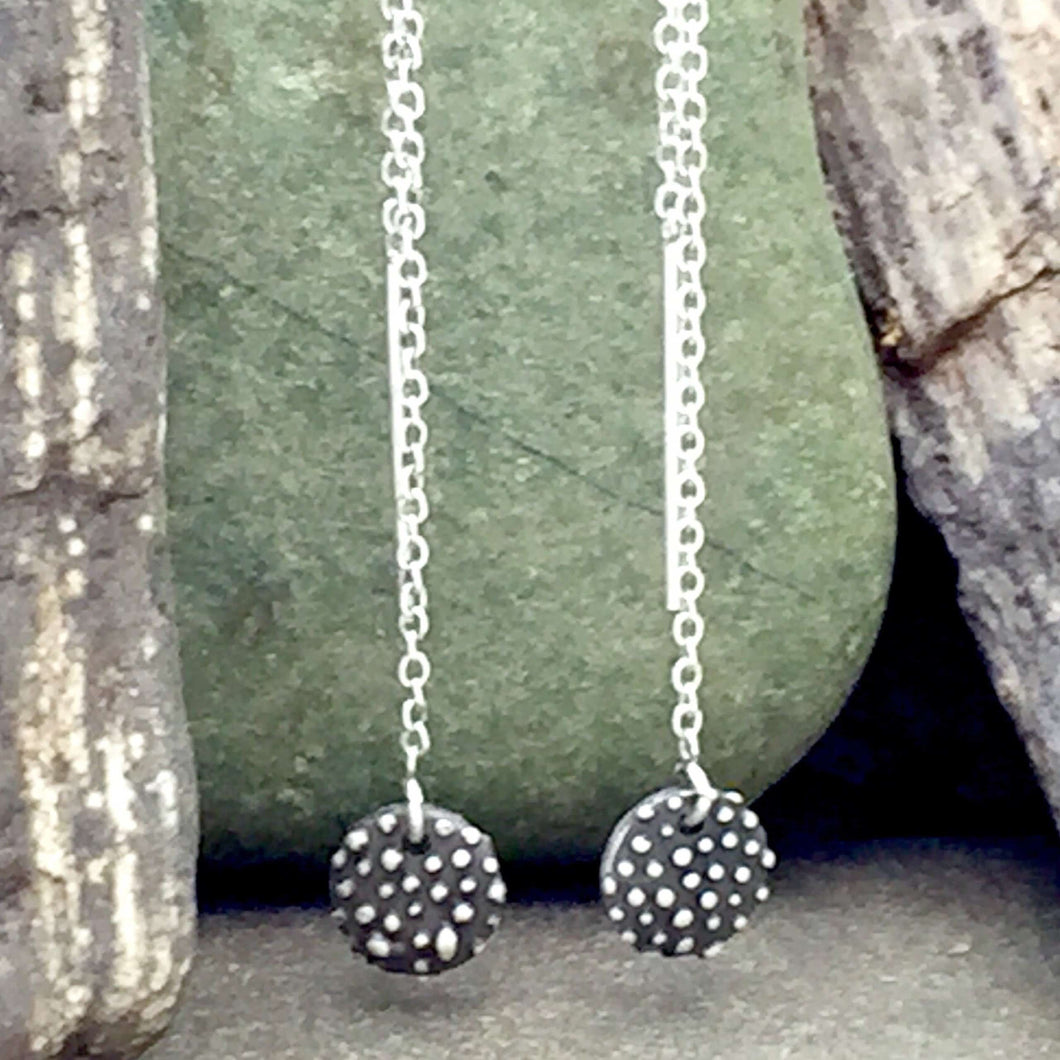 Sterling Silver Tiny Meditation Earrings on Threaders