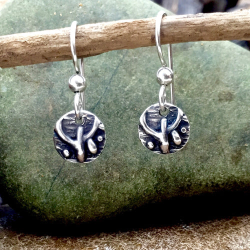 Sterling Silver Tapestry Inspired Earrings on French hooks
