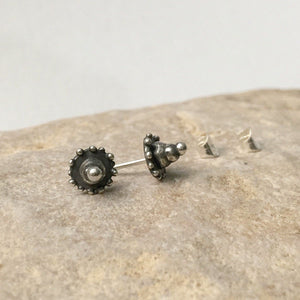 Sterling Silver Three Stacked Dot Ear Studs