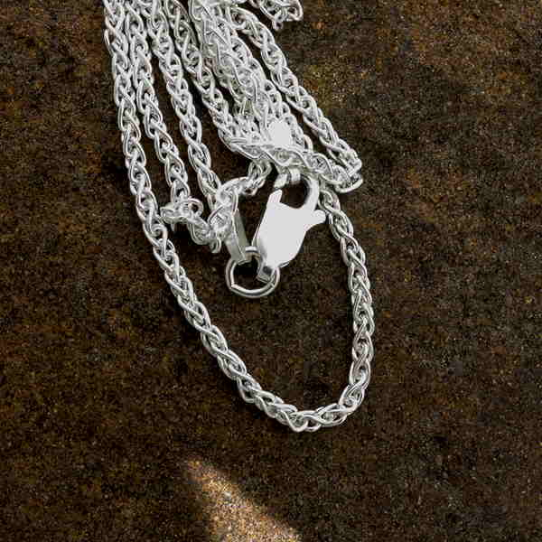 Sterling Silver Wheat Chain with Lobster clasp