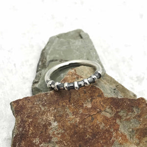 Sterling Silver Simple Seven Bar Band Ring