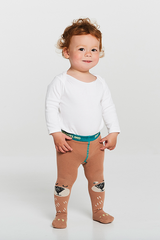 Braveling | Bear Hug Little Titans tights