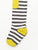 Braveling | Little Titans Sunshine Stripe tights - cosy terry feet with anti-slip soles