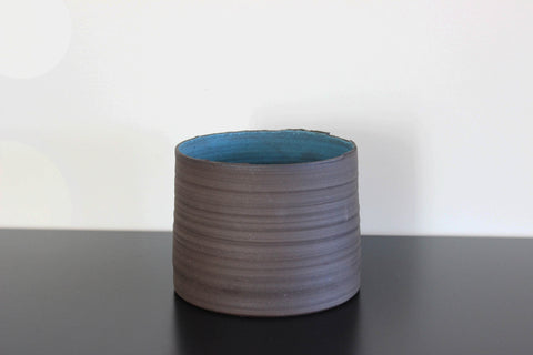Dark Aqua CLIFF Vessel, tall cylinder 5.5in.
