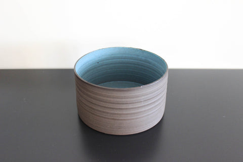 Dark Aqua CLIFF Vessel, tall bowl