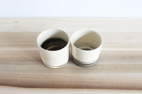 Straight sided STRATA cups, small, s/2 (set b)