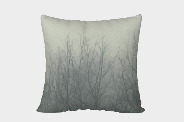 Ghost Trees Pillow Cover (olive)