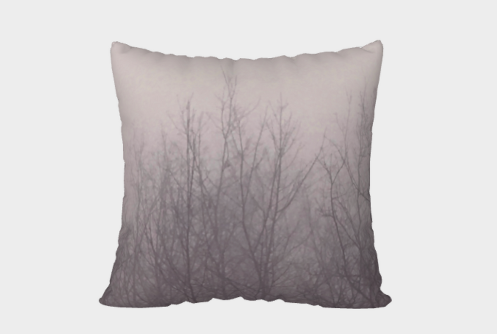 Ghost Trees Pillow Cover (rose)